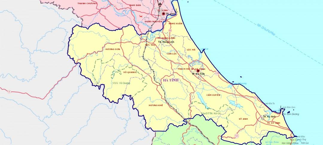 Bản đồ và địa giới hành chính Hà Tĩnh