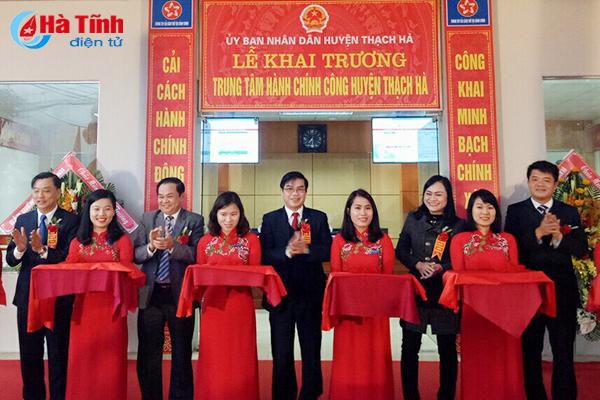 Khai trương Trung tâm Hành chính công huyện Thạch Hà