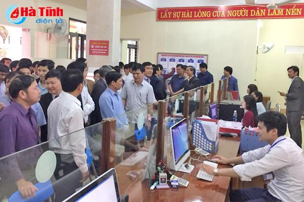 Khai trương Trung tâm Hành chính công huyện Hương Sơn