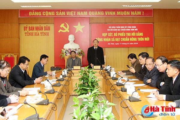 Thu hồi bằng đạt chuẩn nông thôn mới với xã Thiên Lộc và Kỳ Bắc