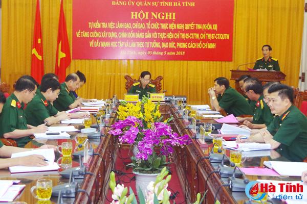 Đảng ủy Quân sự Hà Tĩnh yêu cầu duy trì nghiêm kỷ luật quân đội