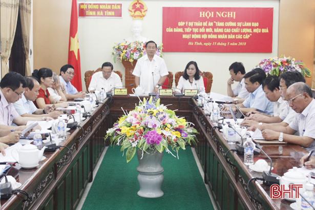 Tăng cường sự lãnh đạo của Đảng đối với hoạt động HĐND các cấp