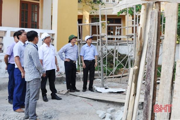 Bí thư Tỉnh ủy kiểm tra tiến độ công trình kỷ niệm 50 năm Chiến thắng Đồng Lộc
