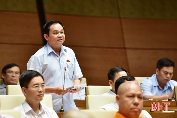 Phó trưởng đoàn ĐBQH Hà Tĩnh tham gia thảo luận về dự án Luật Tố cáo