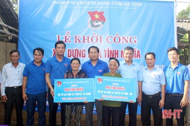 Tỉnh đoàn Hà Tĩnh hỗ trợ 100 triệu đồng xây dựng nhà tình nghĩa