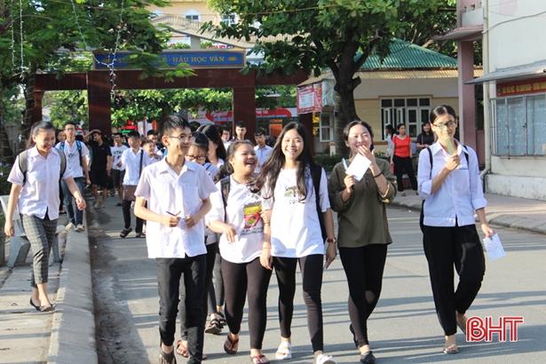 Hà Tĩnh công bố điểm thi vào lớp 10 THPT chuyên và không chuyên