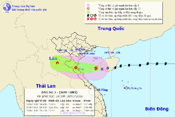 Chiều tối và đêm nay, Hà Tĩnh có gió bão mạnh cấp 8, giật cấp 11