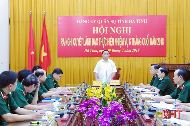 Tập trung cao cho diễn tập khu vực phòng thủ tỉnh Hà Tĩnh năm 2018