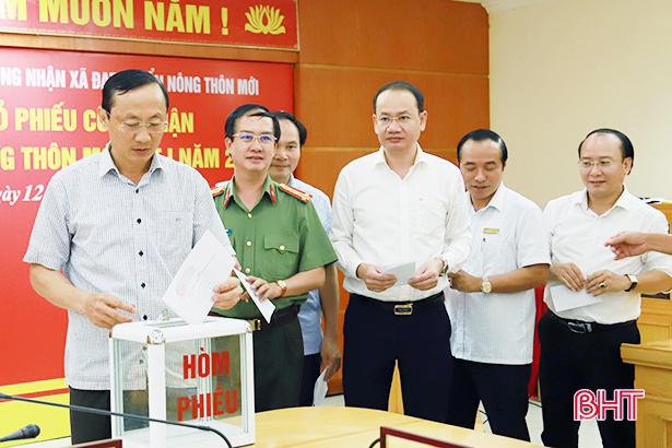 Hà Tĩnh bỏ phiếu công nhận 7 xã đạt chuẩn NTM đợt 1/2018