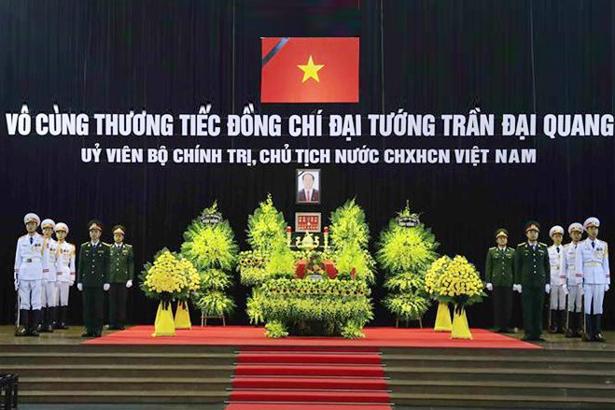 Hơn 1.500 đoàn trong nước, quốc tế viếng Chủ tịch nước Trần Đại Quang