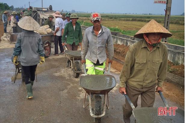 Thạch Hà đầu tư gần 441 tỷ đồng xây dựng nông thôn mới