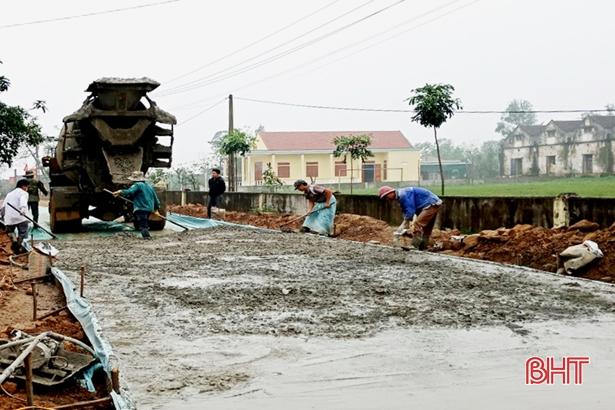 Người dân Kỳ Anh đóng góp hơn 382 tỷ đồng xây dựng nông thôn mới