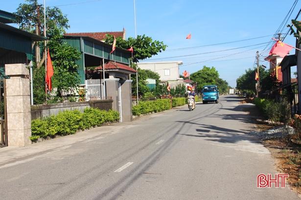 Xã 135 đầu tiên của Cẩm Xuyên về đích nông thôn mới