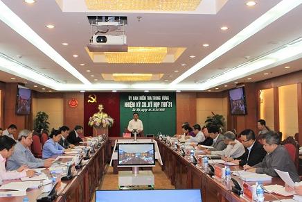 Thông cáo báo chí Kỳ họp 31 của Ủy ban Kiểm tra Trung ương
