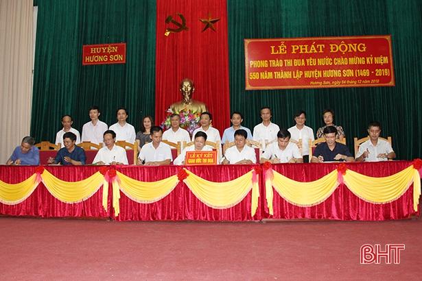 Hương Sơn phát động thi đua chào mừng 550 năm thành lập huyện