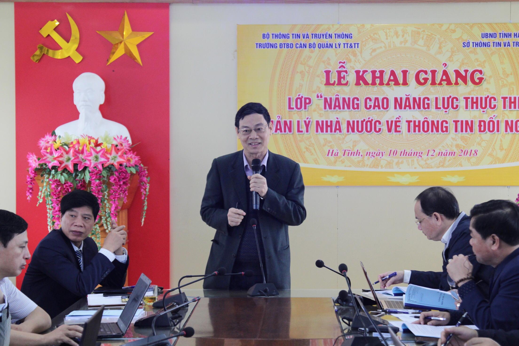Hà Tĩnh: Đào tạo nâng cao năng lực thực thi quản lý nhà nước về thông tin đối ngoại