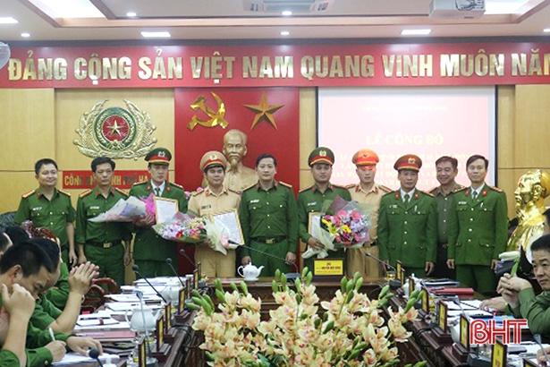 Công an TP Hà Tĩnh hợp nhất Đội CSGT - Đội Cảnh sát trật tự, cơ động