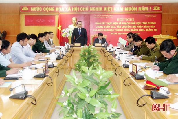 Bàn biện pháp chống buôn lậu qua biên giới các tỉnh Hà Tĩnh, Quảng Bình, Quảng Trị