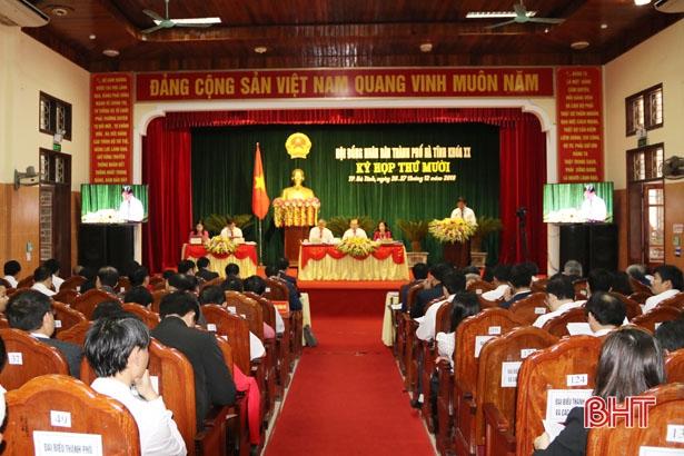 HĐND TP Hà Tĩnh bàn giải pháp phát triển KT-XH năm 2019