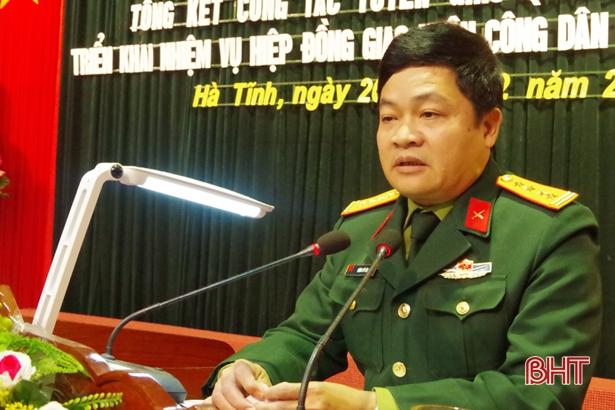 Hà Tĩnh đảm bảo tuyển chọn 1.268 công dân nhập ngũ năm 2019