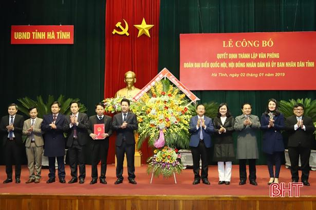 Công bố quyết định thành lập Văn phòng Đoàn ĐBQH, HĐND, UBND tỉnh