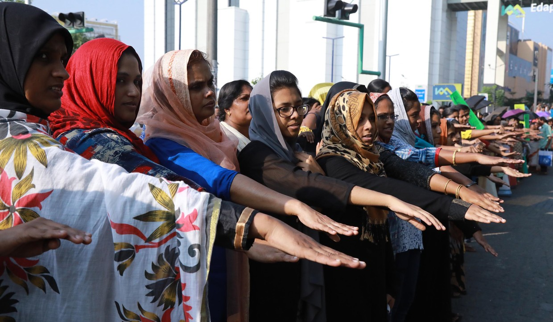 3 triệu phụ nữ Ấn Độ xếp hàng dài 620km đòi quyền bình đẳng giới