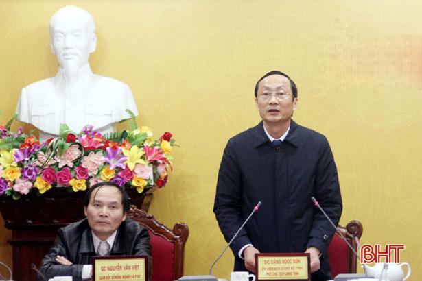 Hà Tĩnh đề nghị Trung ương tiếp tục ưu tiên hỗ trợ tái cơ cấu nông nghiệp