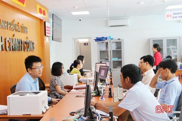 TP Hà Tĩnh dẫn đầu chỉ số cải cách hành chính