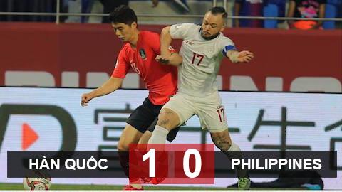 Hàn Quốc 1-0 Philippines: Ứng viên vô địch toát mồ hôi ngày ra quân