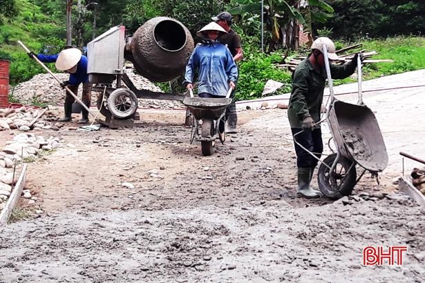 Hà Tĩnh dự kiến làm mới 800 km đường GTNT trong năm 2019