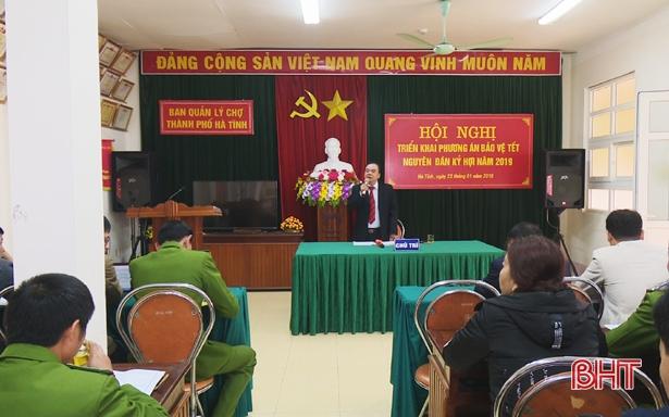 Đảm bảo ANTT tại chợ TP Hà Tĩnh dịp Tết Nguyên đán