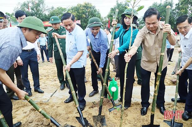 Bí thư Tỉnh ủy phát động ra quân xây dựng nông thôn mới tại Thạch Hà