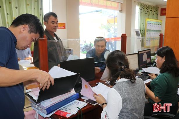 Tỷ lệ giải quyết hồ sơ đúng hạn ở Thạch Hà đạt gần 99,6%