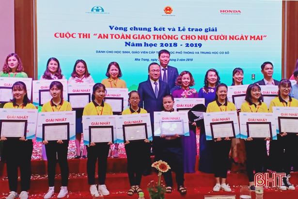 """Hà Tĩnh giành 4 giải nhất, 3 giải nhì Cuộc thi """"ATGT cho nụ cười ngày mai"""""""