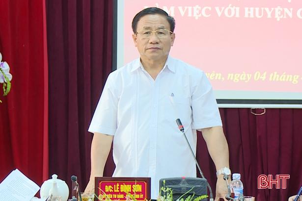 Phương án sáp nhập xã ở Cẩm Xuyên phải làm bài bản, kỹ lưỡng