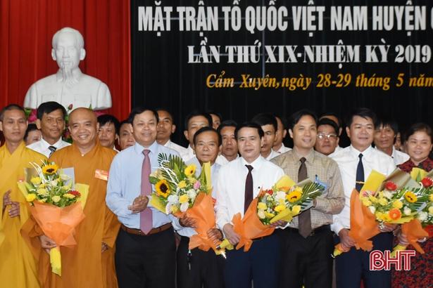 Cẩm Xuyên, Can Lộc bầu Chủ tịch UBMTTQ huyện nhiệm kỳ mới