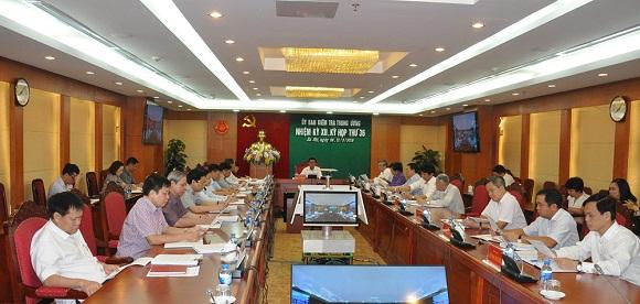 Toàn văn Thông cáo báo chí Kỳ họp 36 của Ủy ban Kiểm tra Trung ương