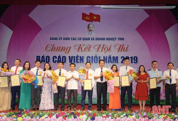 Hội thi báo cáo viên giỏi ở Hà Tĩnh: Lan tỏa từ cơ sở