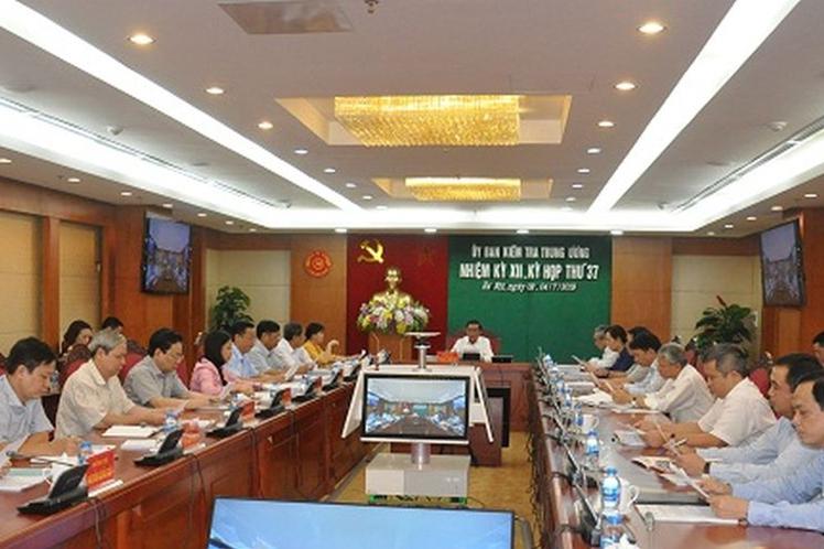 Toàn văn thông báo tại kỳ họp 37 của Ủy ban Kiểm tra Trung ương