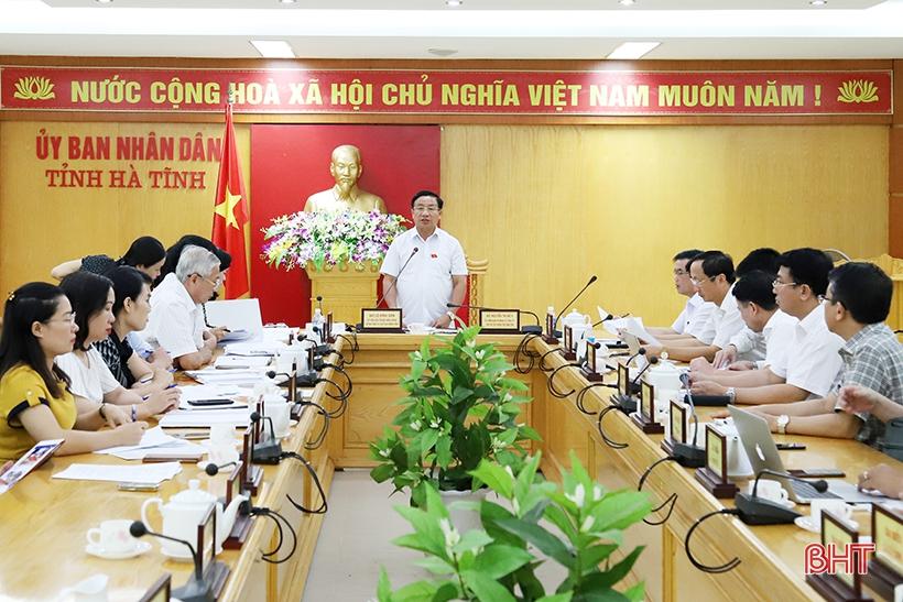 Soát xét công tác chuẩn bị kỳ họp thứ 10, HĐND tỉnh Hà Tĩnh khóa XVII