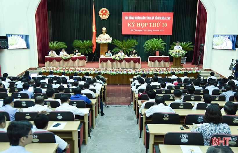 Hôm nay, Kỳ họp thứ 10, HĐND tỉnh Hà Tĩnh bước vào ngày làm việc cuối cùng