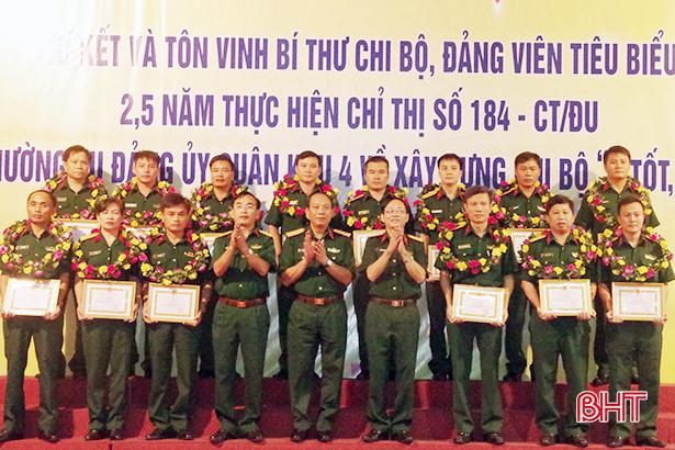 Đảng ủy Quân sự Hà Tĩnh khen thưởng 16 bí thư chi bộ, đảng viên tiêu biểu