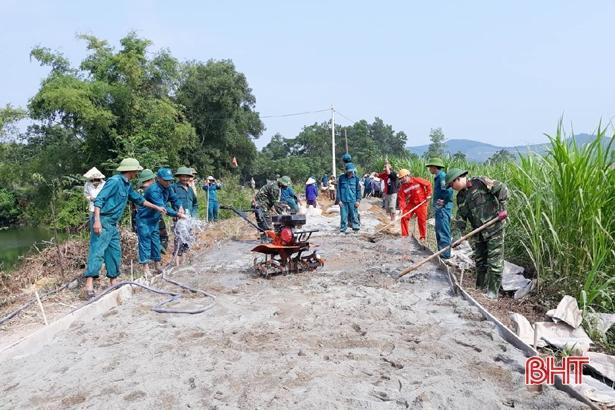 10 năm, Vũ Quang huy động 2.786 tỷ đồng xây dựng nông thôn mới