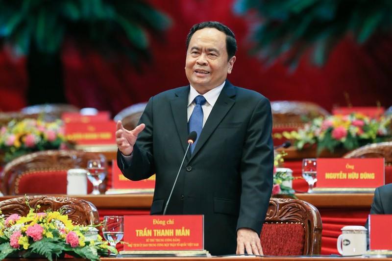 Ông Trần Thanh Mẫn tái cử chức Chủ tịch Ủy ban Trung ương MTTQ Việt Nam