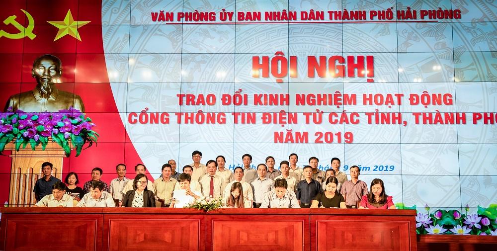 Hà Tĩnh tham gia Hội nghị trao đổi kinh nghiệm hoạt động Cổng Thông tin điện tử các tỉnh, thành phố lần thứ 2 năm 2019 tại Hải Phòng