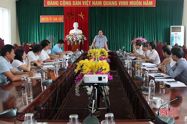 Can Lộc tập trung khắc phục những nội dung theo kết luận của Ủy ban Kiểm tra Tỉnh ủy