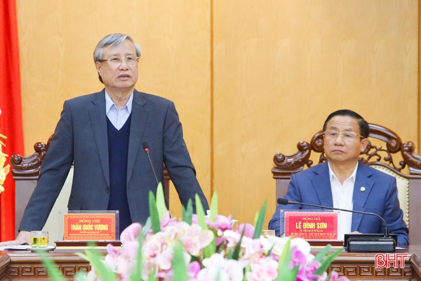 Xây dựng Hà Tĩnh trở thành tỉnh đứng đầu khu vực Bắc miền Trung