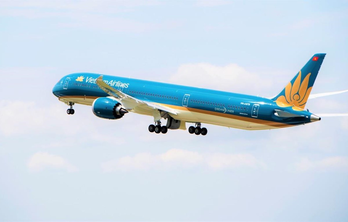 """""""Siêu máy bay"""" Boeing 787-10 đón Đoàn thể thao Việt Nam trở về"""