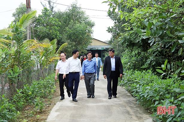 Thứ trưởng Bộ NN&PTNT Trần Thành Nam: Hà Tĩnh có cách làm hiệu quả trong xây dựng nông thôn mới