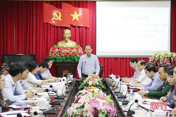 TP Hà Tĩnh hoàn thành 4 bước quy trình nhân sự sáp nhập xã